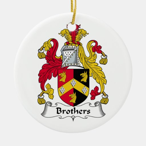 Brothers Family Crest Christmas Tree Ornaments
