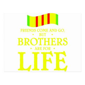 brothers life postcard