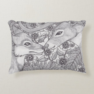 Brothers of the forest decorative cushion