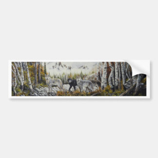 Brothers~Oil Painting by David Paul Bumper Sticker