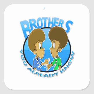 brothers square sticker