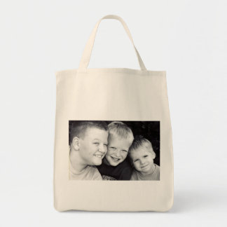 Brothers Three Organic Grocery Tote Bag