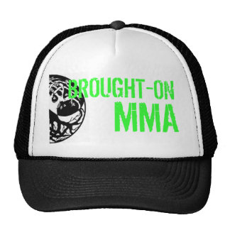 Brought-On MMA trucker hat, green lettering Cap