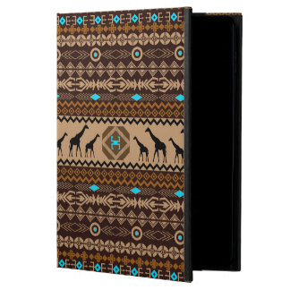 Brow Beige & Turquoise Geometric Ethnic Pattern Powis iPad Air 2 Case