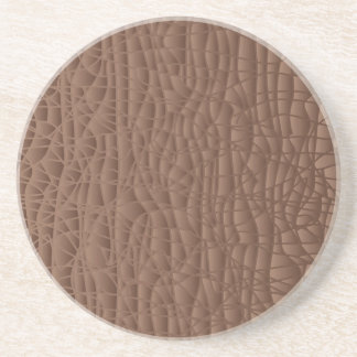 Brown Abstract Background Coaster