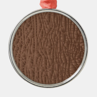 Brown Abstract Background Metal Ornament