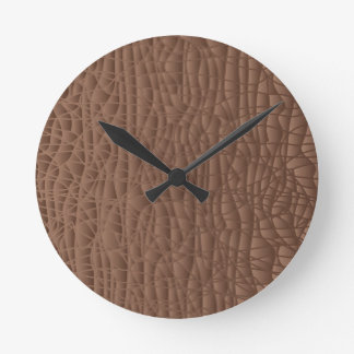 Brown Abstract Background Round Clock