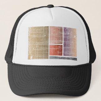 Brown Abstract Background Trucker Hat