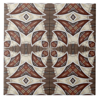 Brown Abstract Large Square Tile