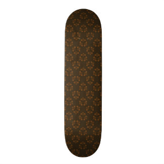 Brown abstract pattern 21.3 cm mini skateboard deck