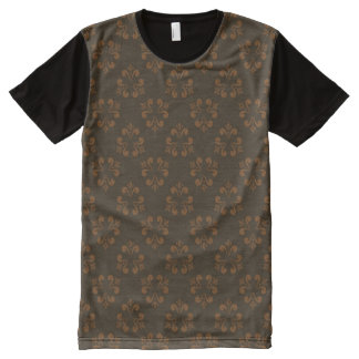 Brown abstract pattern All-Over print T-Shirt