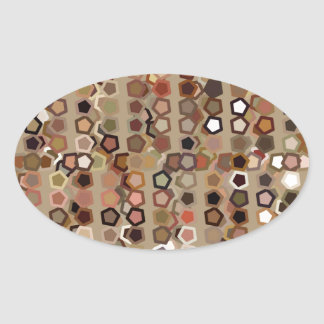 Brown Abstract Pattern Stickers