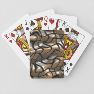 Brown Abstract Sea Design Poker Deck