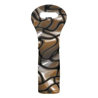 Brown Abstract Sea Design Wine Bag