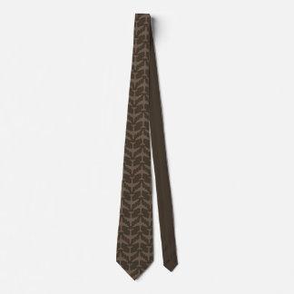 Brown Airliner Pattern Tie