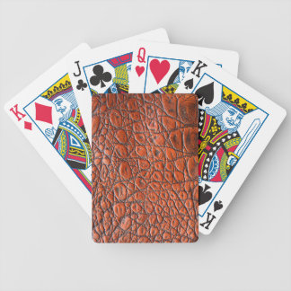 Brown Alligator - Animal Print Poker Deck