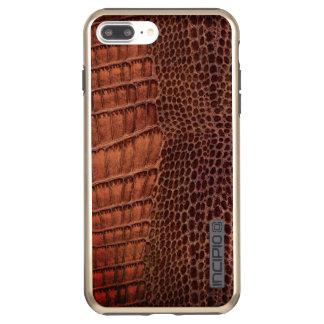 Brown Alligator Classic Reptile Leather (Faux) Incipio DualPro Shine iPhone 8 Plus/7 Plus Case