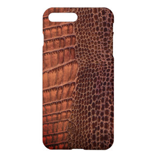 Brown Alligator Classic Reptile Leather (Faux) iPhone 7 Plus Case