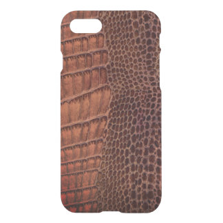 Brown Alligator Classic Reptile Leather (Faux) iPhone 8/7 Case