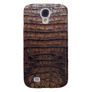 Brown Alligator Skin Print Samsung Galaxy S4 Cover