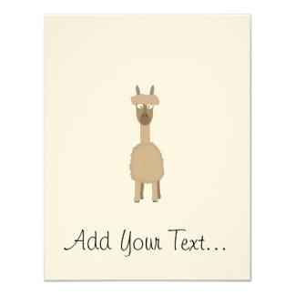 Brown Alpaca 11 Cm X 14 Cm Invitation Card