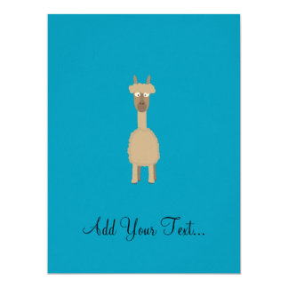 Brown Alpaca 17 Cm X 22 Cm Invitation Card