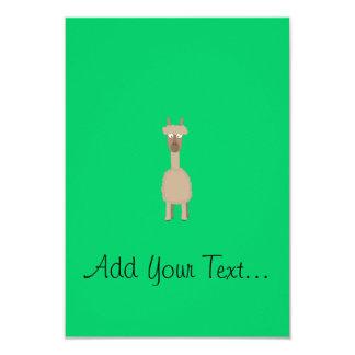 Brown Alpaca 9 Cm X 13 Cm Invitation Card