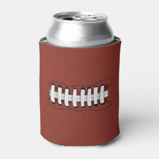 Brown American Football Sports Can Cooler