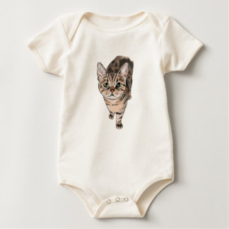 Brown American Shorthair Kitty Baby Bodysuit