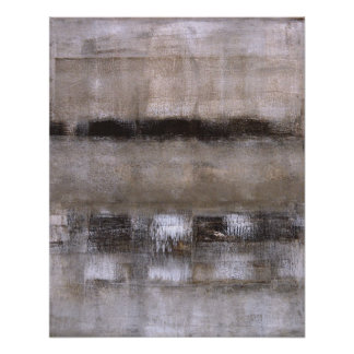 Brown and Beige Abstract Art Poster