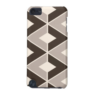 Brown and beige geometric diamonds iPod touch (5th generation) case