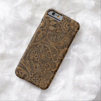Brown And Beige Ornate Floral Paisley Pattern Barely There iPhone 6 Case