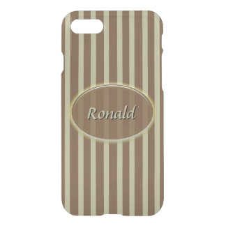 Brown and Beige Stripes - Classic Design iPhone 8/7 Case