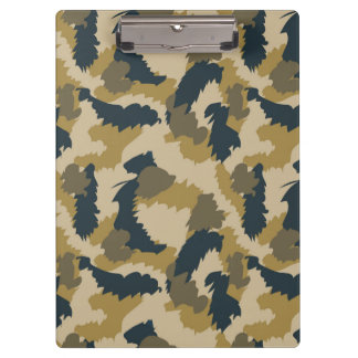 Brown and Black Camouflage Clipboards