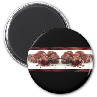 Brown and Black Cupcake Business Card Magnet