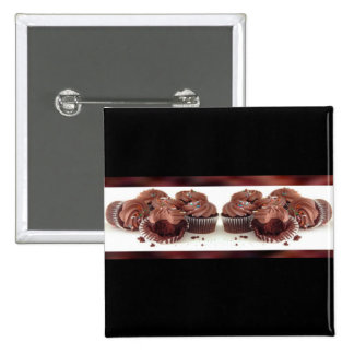 Brown and Black Cupcake Business Card Matching Pin