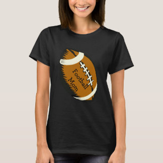 Brown and Black Football Mom Sports Shirt