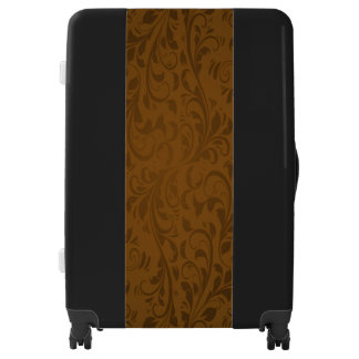 Brown and Black Large Sized Luggage Suitcase