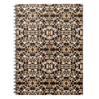 Brown and Black Mosaic Geometric Notebook