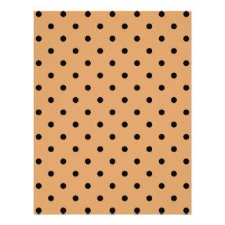 Brown and Black Polka Dot Pattern. 21.5 Cm X 28 Cm Flyer