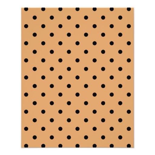 Brown and Black Polka Dot Pattern. Flyer Design