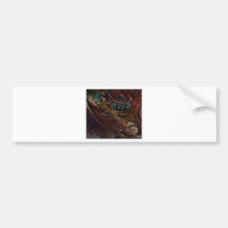 Brown And Blue Abstract Bumper Sticker