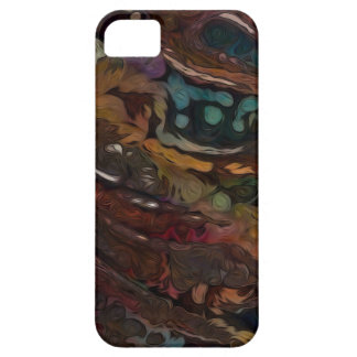 Brown And Blue Abstract iPhone 5 Case