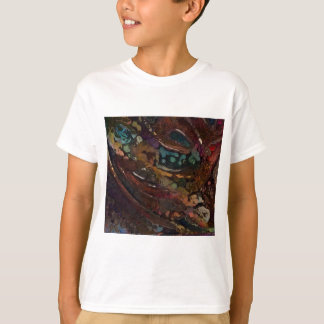 Brown And Blue Abstract T-Shirt