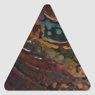 Brown And Blue Abstract Triangle Sticker