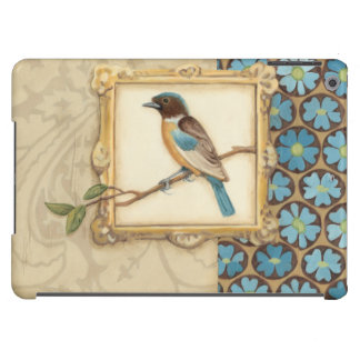 Brown and Blue Bird on a Branch Looking Up Cover For iPad Air