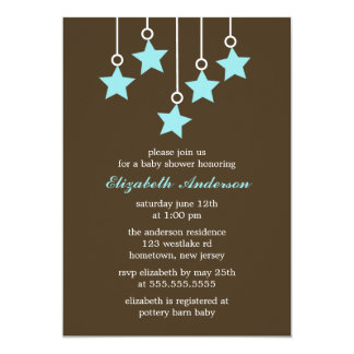 Brown and Blue Mobile Baby Shower Card