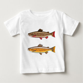 Brown and brook trout baby T-Shirt