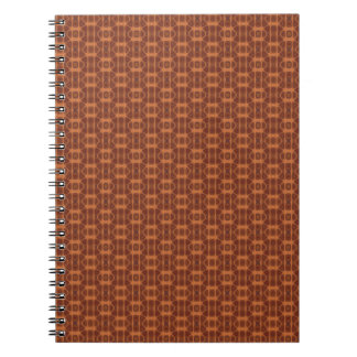 Brown and Copper Color Pattern Spiral Notebook. Notebook