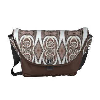 Brown And Cream Abstract Pattern Courier Bags